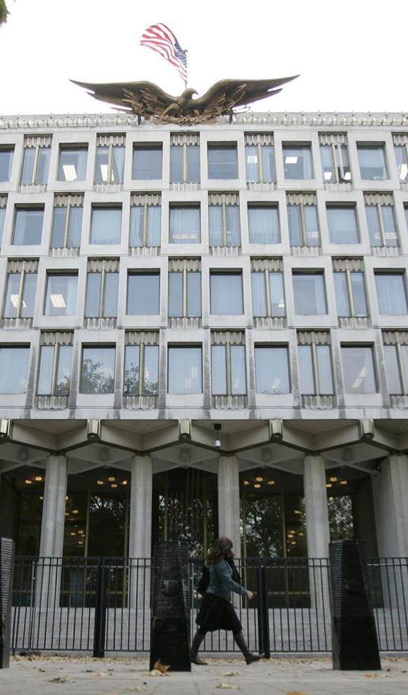 Student caught with hunting knife at the embassy