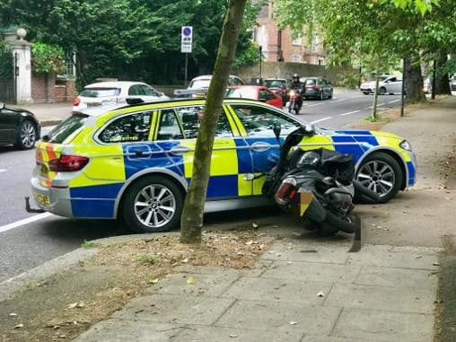'Battle of London' cops hit moped muggers where it hurts