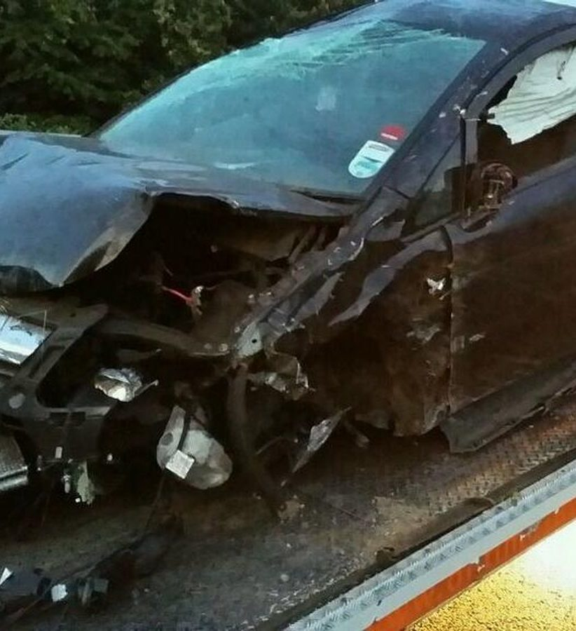 Driver injured teenagers racing another car