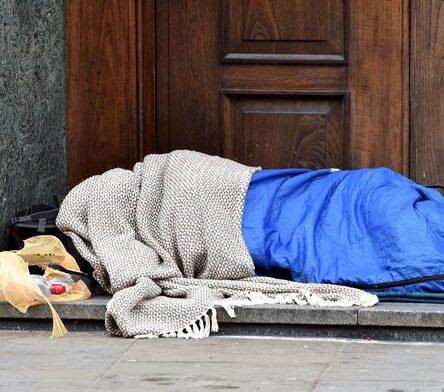 Man sleeping in shop doorway grabbed goods from inside