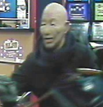 Bizarre disguises of the bookmaker's robber