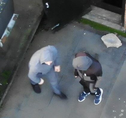 Caught on camera by the police drone
