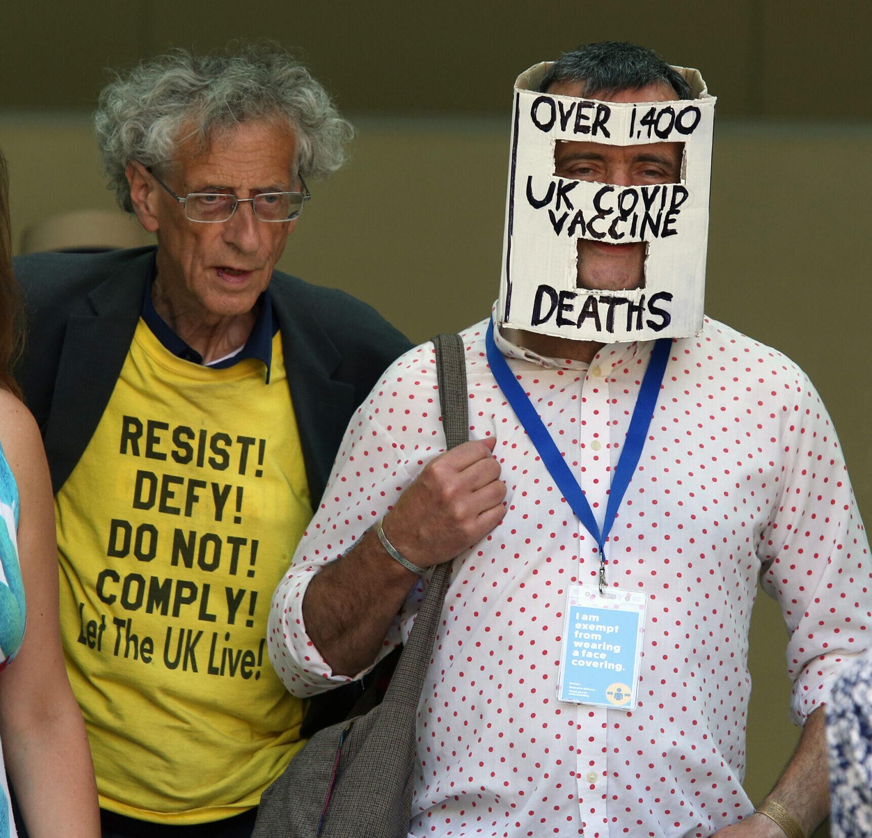 Lockdown protester denies harrassing BBC reporter
